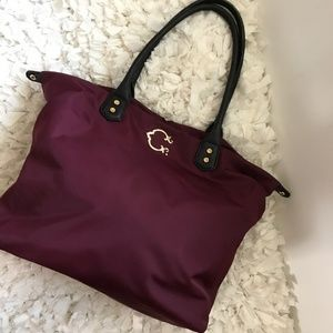 C wonder burgandy large tote.